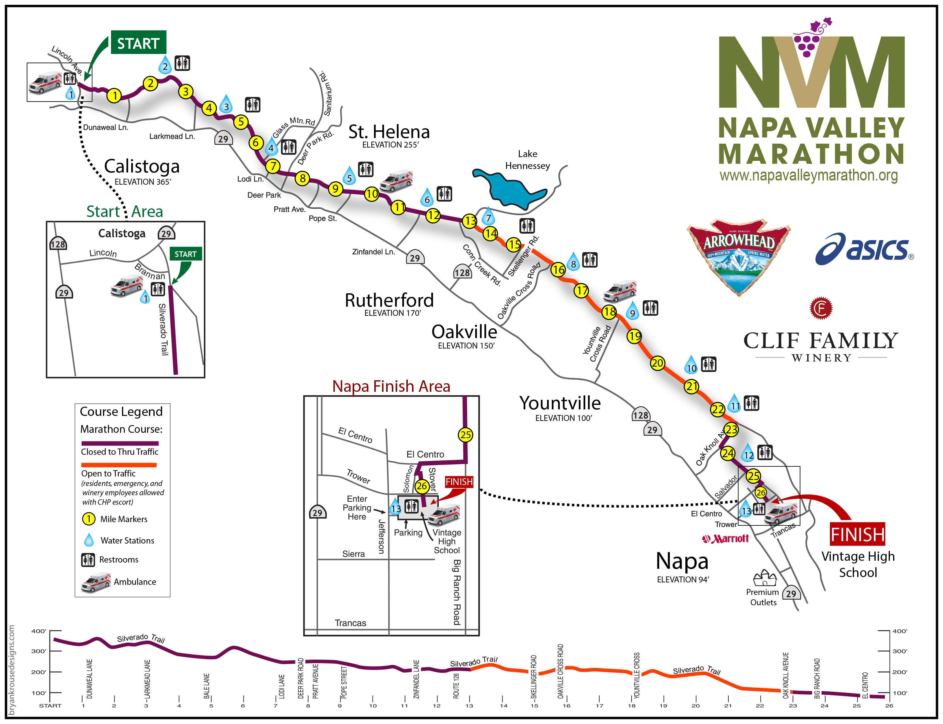 Napa valley map